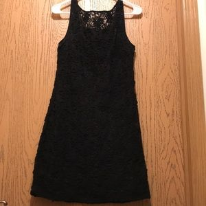 Black dress with flower detail